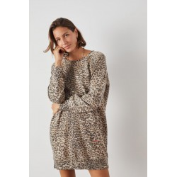 ROBE RANA SWEAT LEOPARD