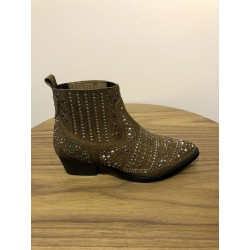 BOTTINES 641T60VK STUDDED CAMEL