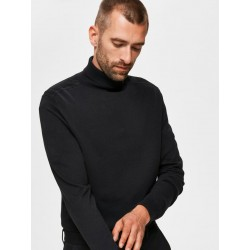 PULL BERG COL ROULE BASIC BLACK