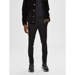 PANT SLIM JERSEY FLEX BASIC. BLACK