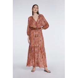 SET Robe longue bohème Rouille