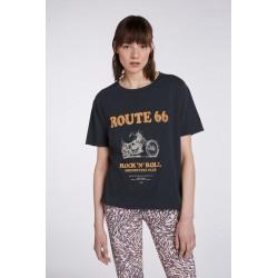 T-Shirt 73643 ROUTE66 Black