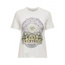 T-SHIRT ONLUCY FORTUNE WHITE
