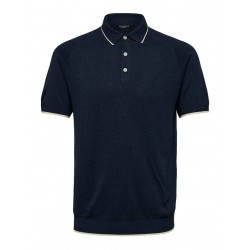 POLO MOON MAILLE LISERET NAVY